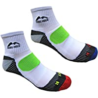 Mens More Mile London Cushioned Running Socks (2 Pair Pack)