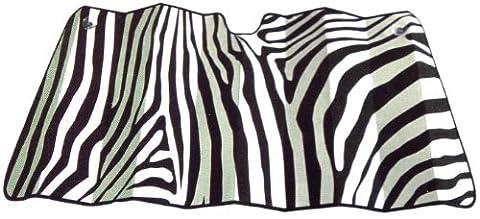 Jumbo Size Folding Sun Shade for Cars - Safari Animal Series Zebra Black and White