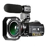 ORDRO Professionelle 4K Ultra HD Nachtsicht Wifi Digitale Videokamera 30X Digital Zoom Camcorder mit Mikrofon Weitwinkelobjektiv und Gegenlichtblende