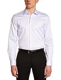 Atelier Privé Herren Slim Businesshemd carreaux base twill