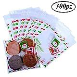 Gudotra 300pz Sacchetti Trasparenti per Caramelle Sacchetti Confetti Plastica Alimentari con Strip Adesiva per Regalo Caramelle Biscotto Compleanno Matrimonio Natale Halloween