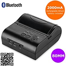 Senza Fili Bluetooth Stampante Termica Dot Portatile Wireless POS Stampanti a Matric 80mm Ricevuta Scontrino USB ESC/POS/STAR per Android Cellulare o Tablet (80mm)