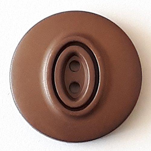 Polyamidknopf mit 2 Löchern - Größe: 30mm - Farbe: braun - Art.Nr. 388740