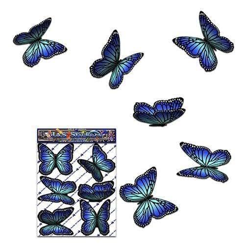 Adesivi per auto autoadesive con farfalla Blu Wanderer - ST00028BL_SML - JAS Adesivi
