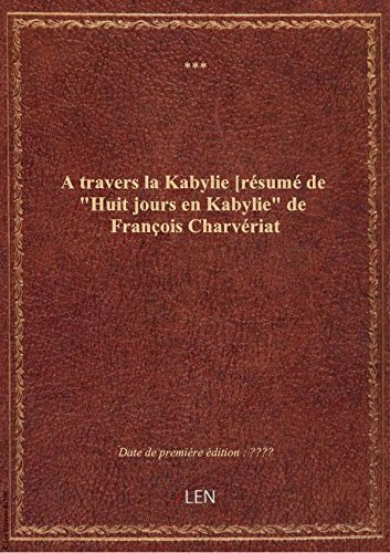 Jours De Kabylie [Pdf/ePub] eBook