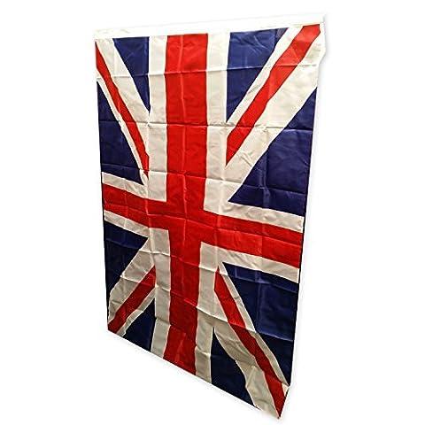 Top Brand Grand drapeau Union Jack Royaume-Uni A brilliant Taille L, Union Jack flag, Souvenir de mesure 3 m, 5 m (91 cm x 152 cm) pour un Durable Usage en intérieur et en extérieur l'utilisation de ce drapeau est Parfait à porter en toute occasion Montrez votre caractéristiques British Pride Par battant drapeau aujourd'hui!