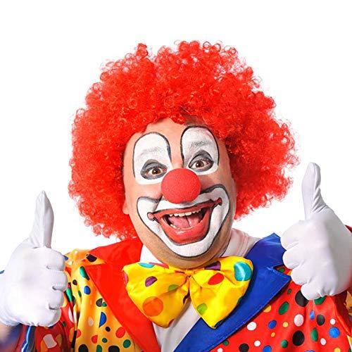 6 x Rote Clown Perücke -Deluxe- ┃ Universalgröße ┃ Crazy Clown Haare ┃ E-S ┃ Karneval - Fasching ┃ 6 x Clownhaare ()