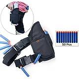 Cosoro équipement de plein air réglable Étui de jambe tactique Pour Enfants kit ( viennent avec 50pcs 7.2cm Blue fléchettes recharge ) Pour Nerf Toy Gun N-strike Elite Series