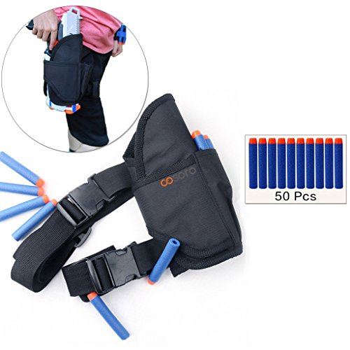 Cosoro Kids Tactical Waist Bag Holster Kit (comes with 50pcs Blue Foam Darts) for Nerf Toy Gun N-strike Elite Series