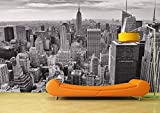 Carta da parati in pile urbano bianco e nero-Decorazione murale moderna-Design-Carta da parati-Decorazione murale-Decorazione murale-Paesaggio urbano