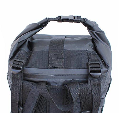 hPa Black Rider Rucksack, wasserdicht schwarz - schwarz