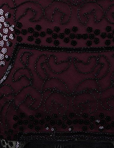 PrettyGuide Damen 1920er Gatsby Cocktail Barock Paillette Charleston Kleid Burgund