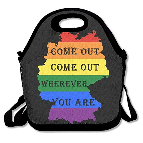 Men Women Teens Food Lunch Tote Gay Lesbian Marriage Come Out Wherever You Are Picnic Travel Portable Reusable Handbag Bags Boxes Lunchbox Outdoor Totes (Cow-boy-party-taschen)