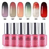 Perfect Summer Brand Pick 6PCS Gel Nail Polish Set Soak Off Color Changing Gel Varnish Starter Kits UV LED Manicure Collection 04
