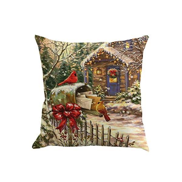 IJKLMNOP Christmas Pillow Square Pillow Case Lino Mat 45x45cm es Adecuado para oficinas, Casas, automóviles, cafeterías… 9