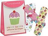 30 Süßes bunte Cupcake-Pflaster mit verschiedenen Muffin-Motiven