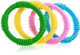 Buntes Baby Beißring 4er Set, Schmerzfreies Zahnen für Jungen & Mädchen, 4 Silicone Sensory Baby Teething Ring Toys, 100% BPA Frei