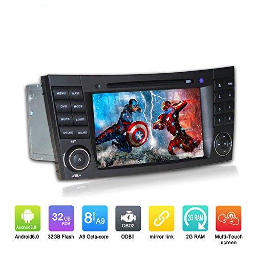 7 Zoll Octa Core 1024 * 600 Android 6.0 Auto DVD GPS Navigation Multimedia Player Auto Stereo für Benz E-Klasse W211 2002-2008 E200 E220 E240 E270 E280 Radio Lenkradsteuerung mit - Dvd-player Eingebaute Smart-tv Mit