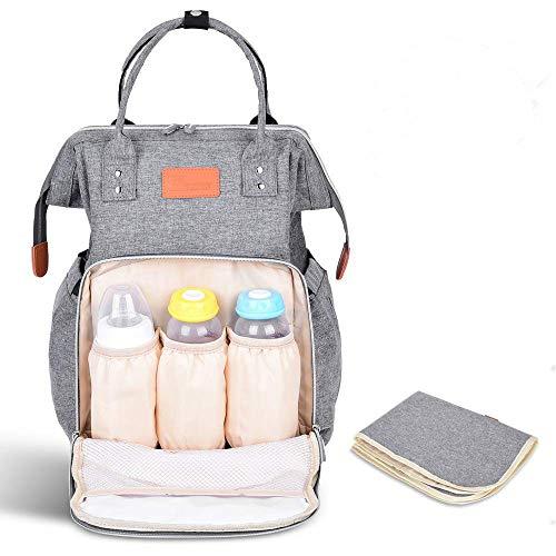 Baby Wickeltasche Wickelrucksack, TOMOUNT Multifunktion Babytasche Groß mit Wickelunterlage Reiserucksack mit vielen Fächern Große Kapazität Wasserdicht Kein Formaldehyd