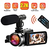 Camcorder Video Camera 2.7K 30MP Digital Camcorder Camera with Microphone Full HD Vlogging