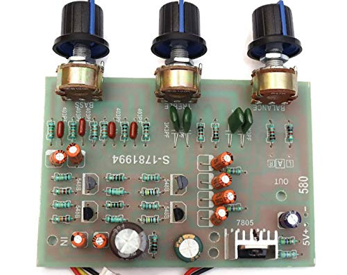 Electronicspices Stereo Preamplifier Tone Board Audio 3 Channels Bass Treble Control Equalizer Board