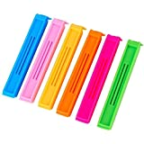Dk-eSTORE Plastic Food Snack Bag Pouch Clip Sealer For Keeping Food Fresh Pack Of 18 In 3 Different Sizes Multi Color