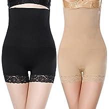AONER 2Pcs Braga Braguita Moldeadora Adelgazante Faja Reductora Body Cintura Abdomen Shapewear Lenceria para Mujer (