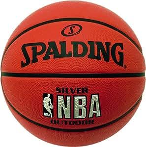 Spalding Kids NBA Outdoor Basketball - Silver, Size 5