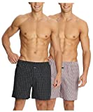 Jockey Boxer Checked Shorts - Assorted Pack of 2 (Small)