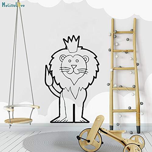 Royal White Salt (zhuziji Royal Lion Wandaufkleber Art Und Dignified Decals Dekoration Für Kinder Baby Room Removable Vinyl Nette Kunstwand rot 35x56 cm)