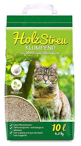 5x10 =50 Liter 5x10 l Holzstreu Naturklumpstreu Öko-Plus Cat`s Katzenstreu best Streu GreenCat