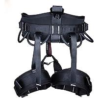 Escalada En Roca Al Aire Libre, Cinturón De Seguridad para Trabajo En Equipo,Black,OneSize