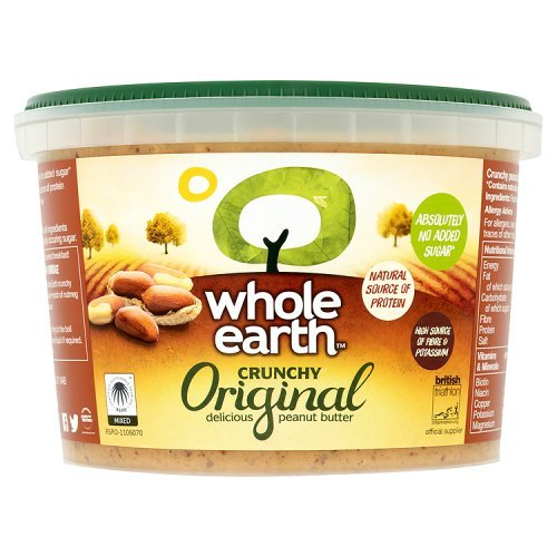 Whole Earth Crunchy Original Delicious Peanut Butter, 1 Kg [Absolutely No Added Sugar]