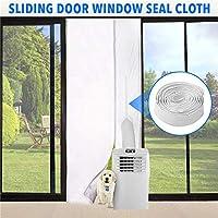 Junta universal de puerta de ventana para acondicionadores de aire móviles y secadora de aire acondicionado Kit de sello de cubierta de puerta de aire acondicionado portátil Sellado de tela