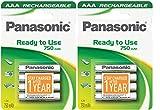 Panasonic P03E - Pila recargable (8 unidades, AAA, 750 mAh, Ni-MH, precargada)