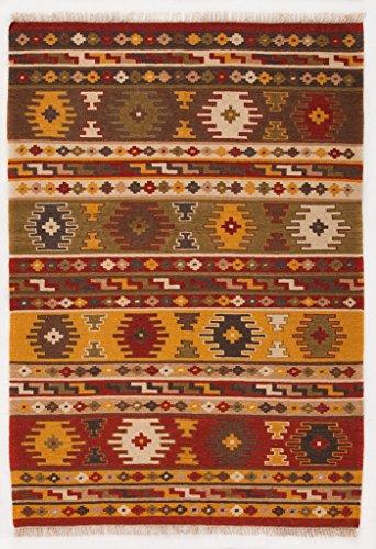 Galleria farah1970) - 200x140 cm kilim autentico, originale e fatto a mano ideale per la sala, salotto, ufficio, seconda casa e la cucina