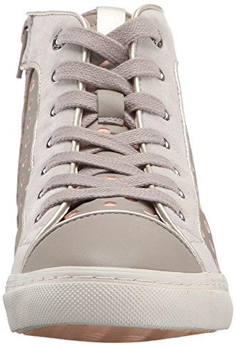 Geox D New Club B, Chaussures à Col Roulé Femme Jaune (Gris (C1010))