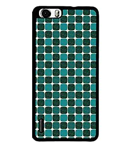 Fuson Premium Elephnat Pattern Design Metal Printed with Hard Plastic Back Case Cover for Huawei Honor 6