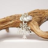 Lebensbaum.Kette mit Initialen, personalisierte Kette mit Gravur, 925er Silberkette mit Gravur, Familienkette, echt Silber