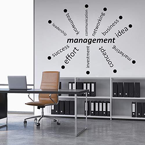 Woyaofal gestione aziendale decalcomania da muro in vinile decorazioni per ufficio formazione aziendale parole adesivi murali impermeabile mondern room decor murale 71x57cm
