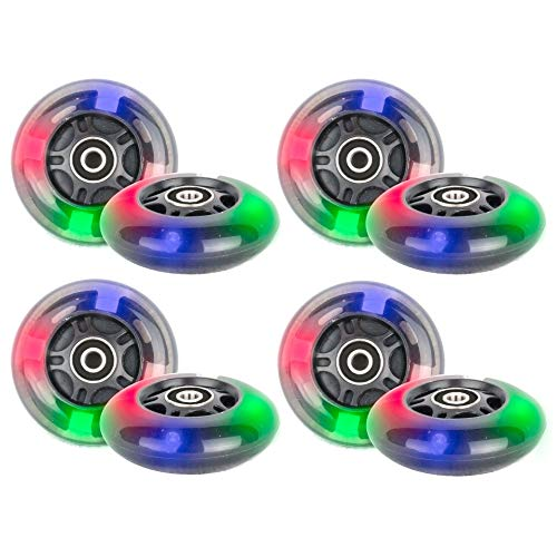 Hepros PU 80mm 8 Leuchträder Inliner Skate Waveboard 3 LED ABEC 9 Lager