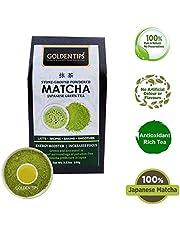 Golden Tips Japanese Matcha Green Tea Powder | No Added Sugar | for Weight Loss | 100 gm, 50 Cups |