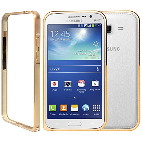 DMG Aluminum Metal Bumper Frame Cover Shock Absorbing Protective Case For Samsung Galaxy Grand 2 ( Gold )  available at amazon for Rs.199