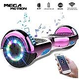 Mega Motion 6.5 Pouces Gyropode Balance Board,Scooter électrique d'auto-équilibre,Skateboard de Haute qualité,2272 LED certifié UL,Roues LED Light,Haut-Parleur Bluetooth,Moteur 700W