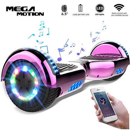 "Mega Motion Self Balance Scooter 6,5"" - 2018 Elektro Scooter E-Skateboard - Scooter - UL zertifizierten 2272 LED - Räder mit LED Licht -Bluetooth Lautsprecher-700W Motor"