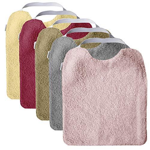 Pack 5 baberos rizo guardería impermeables