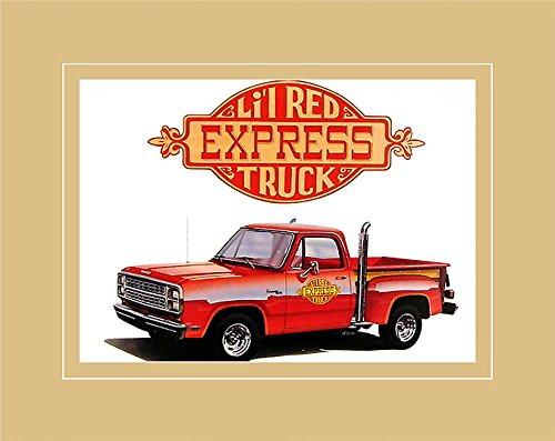 Chrysler Cars Autos Historical Prints Poster Kunstdruck Bild 1978 Dodge Li'l Red Express Truck 40x50cm