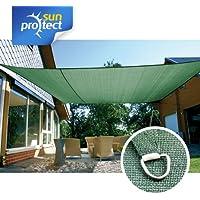 sunprotect 83245 Professional Toldo / Vela de Sombra, 6 x 4 m, rectangular, verde