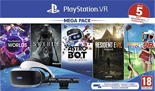 PlayStation VR - MK4 - 5 Jeux (VR Worlds + Skyrim + Astrobot + Everybody's Golf + Resident Evil 7) -...