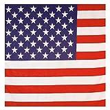 USA Bandana Amerika Kopftuch Männer Herrenkopftuch Stars and Stripes Kopfbedeckung Kostüm Accessoire Easy Rider Rocker Biker Haube Tuch